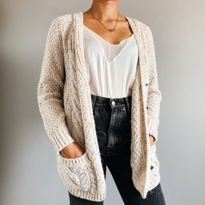 🍁 Tan Speckled Fall Cardigan 🍂